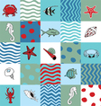 Seamless pattern with marine life vector image vector image