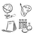 education equipment vector image vector image