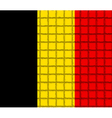 The mosaic flag of Belgium vector image vector image