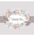 frame from roses vector image vector image