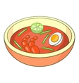 Asian soup icon cartoon style vector image
