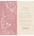 Baroque wedding invitation pink and beige vector image