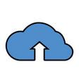 cloud computing upload vector image
