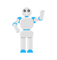 flat style of Japanese robot vector image