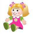 girl doll vector image