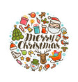 merry christmas xmas greeting card or banner vector image