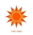 Orange Sun Symbol over white vector image