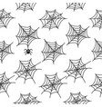 set of 4 seamless patterns with cobweb vector image