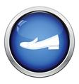 Woman low heel shoe icon vector image
