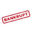 Bankrupt Text Rubber Stamp vector image
