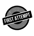 First Attempt rubber stamp vector image