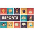 esports - modern flat design icons set vector image