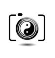 Digital Camera- photography logo with ying yang vector image