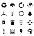 ecology and energy icon vector image vector image