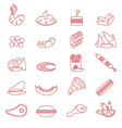 Food Snacks Silhouette vector image
