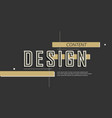 abstract inscription design for decoration vector image