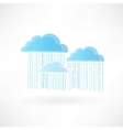 clouds and rain vector image