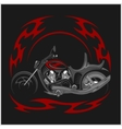 Flaming Bike - Retro Chopper and tribal flame vector image