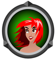 icon girls vector image