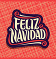 merry christmas in spanish language vector image