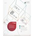 Minimal modern infographic elements vector image