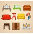 Set of ten furniture vector image