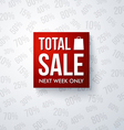 Total sale design template vector image