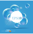 Bubbles on a blue background vector image