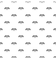 Crossed chequered flags pattern simple style vector image