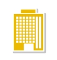 silhouette colorful with office building in yellow vector image