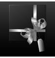 Black gift box vector image