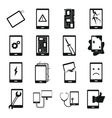 Device repair symbols icons set simple style vector image