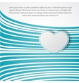 White heart on green waves vector image vector image