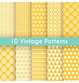 Vintage different seamless patterns vector image