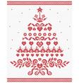 Christmas Ukrainian ornament red tree seaml vector image