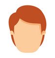 colorful image caricature front view faceless man vector image