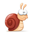 funny cute snail shadowand reflect vector image