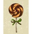 hand drawn lollipop vector image