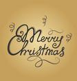merry christmas hand lettering festive vector image