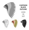 mohawk indian icon cartoon singe western icon vector image