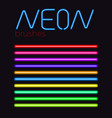 neon brush set vector image