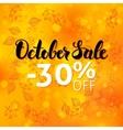 October Sale Poster Blurred Background vector image