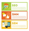 Search optimization and internet media marketing vector image