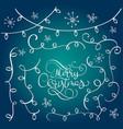 set of vintage flourish doodle garlands christmas vector image