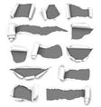 Torn gray paper vector image