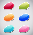 Set of colorful label paper vector image