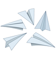 cartoon paper planes vector image vector image
