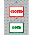 Open and closed symbol vector image vector image