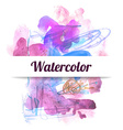 watercolor vector image vector image