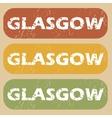 Vintage Glasgow stamp set vector image
